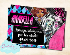 Tag Retangular - Monster High