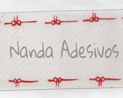 Adesivo La�o Vermelho C�d.: A100