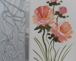 Quadro Floral Em Acr�lico -( 30 X 30 )