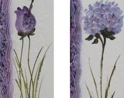 Conjunto De Quadros Floral - ( 20 X60 )