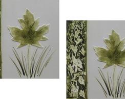 Conjunto De Quadros Floral - ( 30 X 30 )