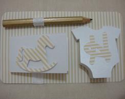 Kit Bloquinho E L�pis Rocket Horse