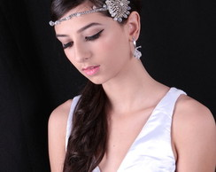 Headband cristais e strass tcheco
