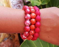 Pulseira Mix Red Orange