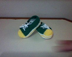 All Star de croch� verde e amarelo
