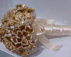 Buqu� Luxo de broches dourados