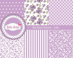 Kit Papel Digital Amor Eterno - Lil�s