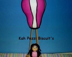 Topo de bolo mulher em biscuit