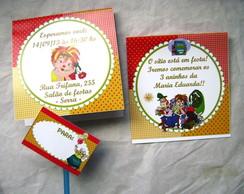 Convite Pirulito: S�tio do Pica Pau