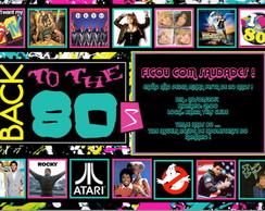 Convite Digital ANOS 80
