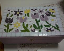 Caixa Bijuterias em mosaico