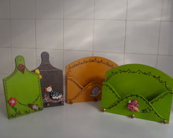 PORTA CARTAS E CHAVES - MDF/BISCUIT