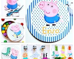 Kit Festa Peppa Pig - Menino