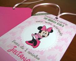 Convite de Anivers�rio Minnie Rosa
