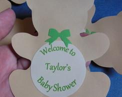 Urso personalizado 10cm em papel