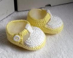 Sapatenis em croch� para beb�