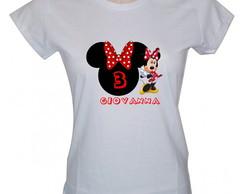 Camisetas personalizadas Minie e Mickey