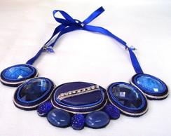 Maxi Colar Azul Cobalto
