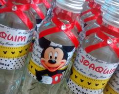 �gua Em Garrafa De Vidro Mickey