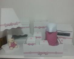 Kit Completo Beb� - rosa po� marrom