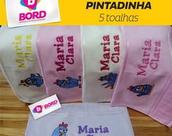 Kit Toalhas Bordadas Galinha Pintadinha