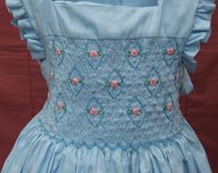 vestido azul babadinhos