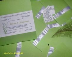 Convite de Casamento Verde e Branco