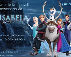Frozen Disney Convite In�dito