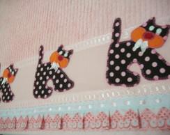 Toalha de Banho Infantil C/Patch Aplique