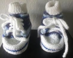 Conj. T�nis de croch� e meia para beb�