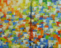 Pain�is 40x40 Cada Abstrato Cod 711