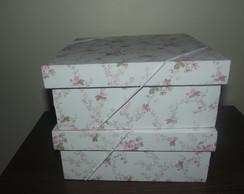 Caixas Forradas De Tecido Organizadora