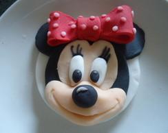 Rosto da Minnie para cupcake ou pirulito