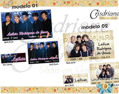 Etiqueta Escolar One direction