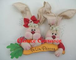 Placa casal coelhos