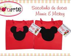 Sacolinha de papel Minnie e Mikey