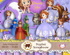 Kit Scrapbook Digital - Princesa Sofia
