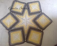 Tapete estrela em croch�