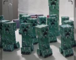 Minecraft Boneco Mini Creeper (em papel)