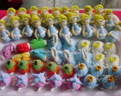 Topper em biscuit para cupcake Cinderela