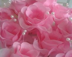 Forminha Rosa com p�rolas