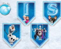 Frozen Bandeirolas Impressas Decoradas