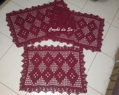Trio de tapetes em croch�