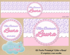 Kit Digital Proven�al Lil�s e Rosa