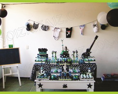 Decora��o Ch� De Beb� - Tema Rock Star