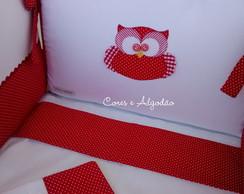 Kit Mini Ber�o Corujinha Vermelha