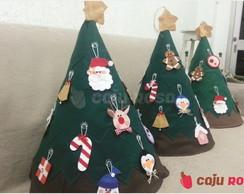 �rvore de Natal em feltro