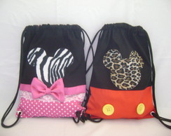 mochila minnie , mickey safary ( 35 x25