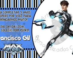 Convite Max Steel Turbo Force