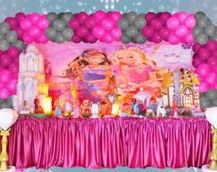 Mesa tem�tica Barbie castelo diamante